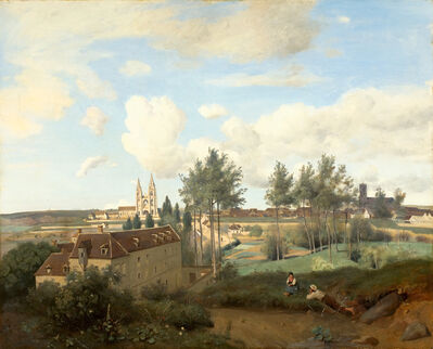 Jean-Baptiste-Camille Corot, 'Soissons seen from Mr. Henry's factory', 1833