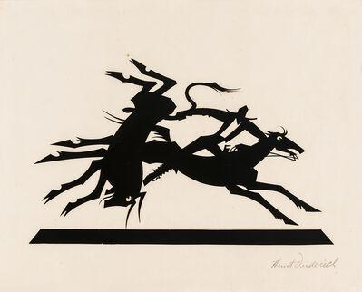 Wilhelm Hunt Diederich, 'Cowboy Roping Bull', 1920-1930