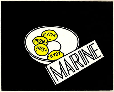 Ian Hamilton Finlay, 'Marine', 1968