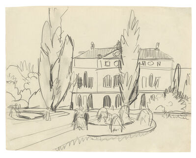 Ernst Ludwig Kirchner, 'Ein Boskett in Dresden, mit Blick auf ein Palais', ca. 1910