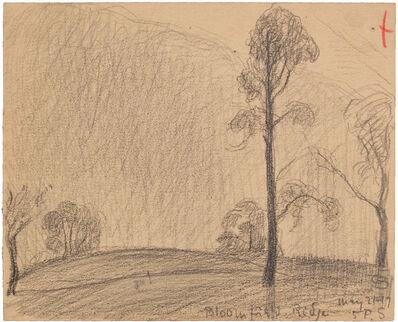 Oscar Bluemner, 'BLOOMFIELD RIDGE MAY 21-17', 1917