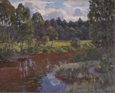 German Alexeevich Tatarinov, 'Summer Stream and Flowers', ca. 1990