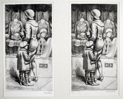 Kenneth Hayes Miller, 'Pause by a Window - 2 States', 1930