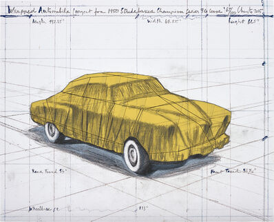 Christo and Jeanne-Claude, 'Wrapped Automobile (Project for 1950 Studebaker Champion Series 9G Coupe)', 2015