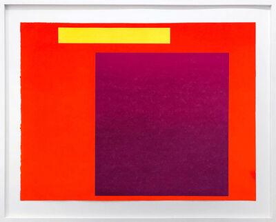 Rupprecht Geiger, 'Metapher Zahl Sieben', 1985-89