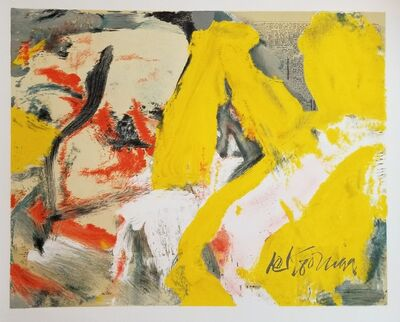 Willem de Kooning, 'THE MAN AND THE BIG BLONDE, ', 1982