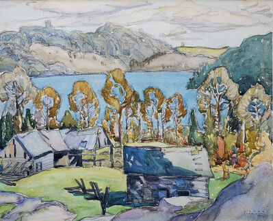 Franklin Carmichael, 'Old Barns, Miners Bay', 1925