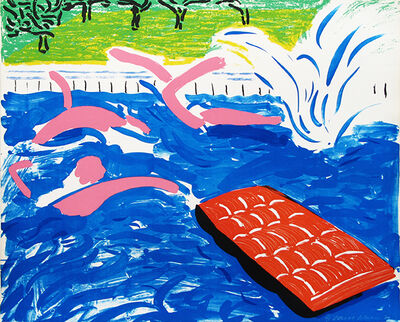 David Hockney, 'Afternoon Swimming', 1980