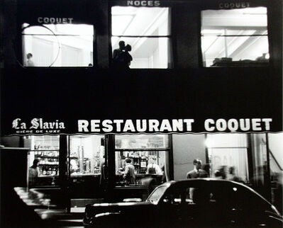 Sabine Weiss, 'Place Blanche, Paris (Le Restaurant Coquet)', 1953
