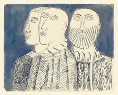 Francis Newton Souza, 'Untitled (Three Priests)', 1954