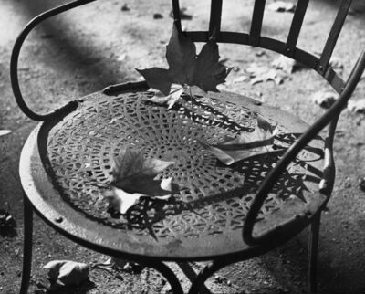 Ilse Bing, 'Chair, Luxembourg', 1952