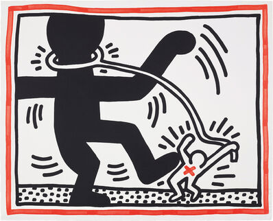 Keith Haring, 'Untitled, from Free South Africa', 1985