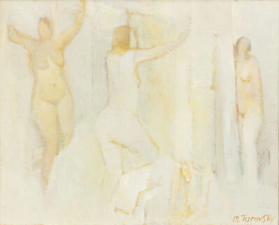 Mikhail Turovsky, 'Three Standing Nudes in White', ca. 2016