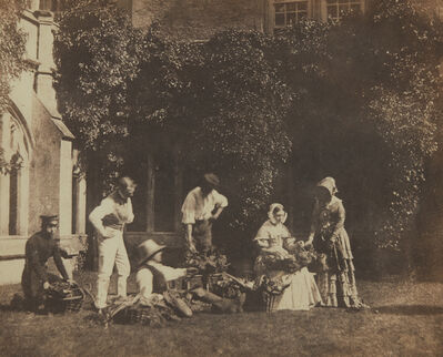 William Henry Fox Talbot, 'The Fruit Sellers', ca. 1845