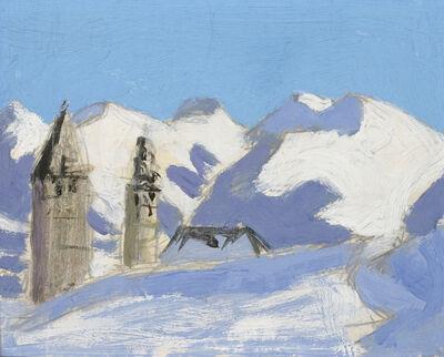 Alfons Walde, 'Kitzbühel in Winter', ca. 1922