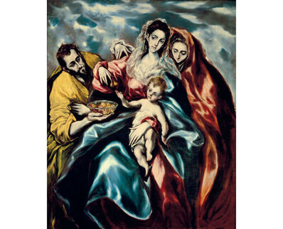 El Greco, 'The Holy Family with Mary Magdalene and a Plate of Fruits ', 1610 -1614