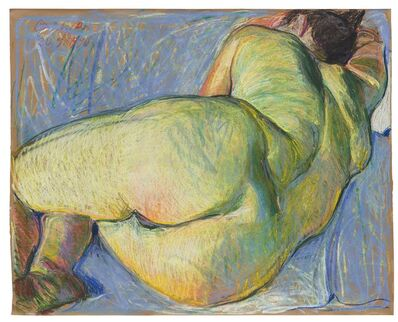 Johannes Grützke, 'Liegender Frauenakt', 1990