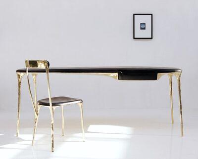 """Valentin Loellmann, 'Desk - """"Brass"""" collection', 2017"""