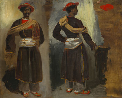 Eugène Delacroix, 'Two Studies of a Standing Indian from Calcutta', ca. 1823/1824