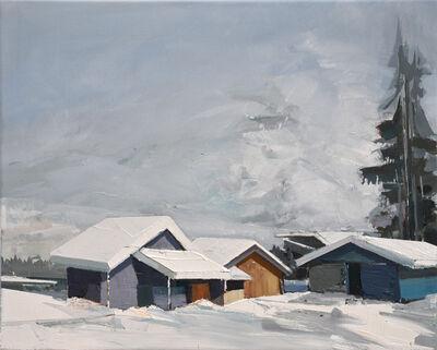 Ulf Puder, 'Wintermorgen in St. Moritz', 2020