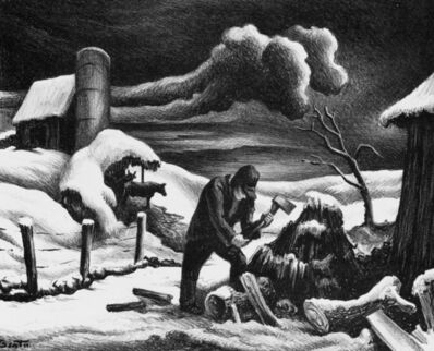 Thomas Hart Benton, 'The Woodpile', 1939