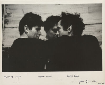 John Cohen, 'Robert Frank, Alfred Leslie, Gregory Corso', 1959