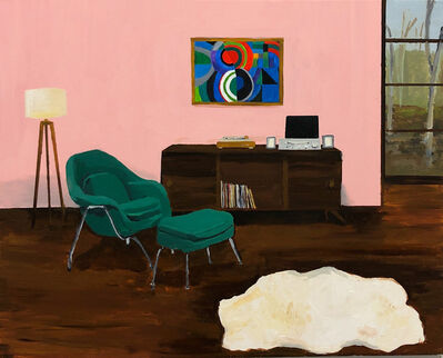 Polly Shindler, 'Room with Faux Sheepskin Rug and Painting (Sonya Delaunay) ', 2019