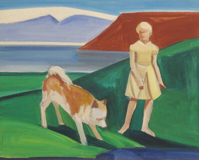Louisa Matthíasdóttir, 'Girl with Dog', 1987