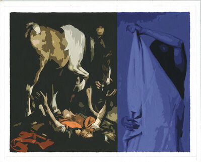 Sean Cain, 'Purple Figure Hidden, with Caravaggio', 2017