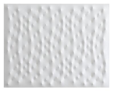 Enrico Castellani, 'Superficie bianca', 2005