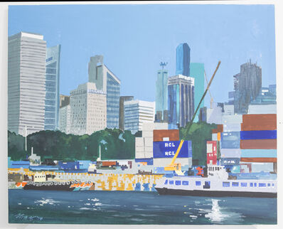 Ong Kim Seng, 'Container Port at Shenton Way', 2014