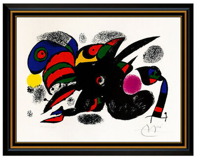 Joan Miró, 'Joan Miro XXE Siecle Color Lithograph Hand Signed Abstract Animal Modern Artwork', 1976