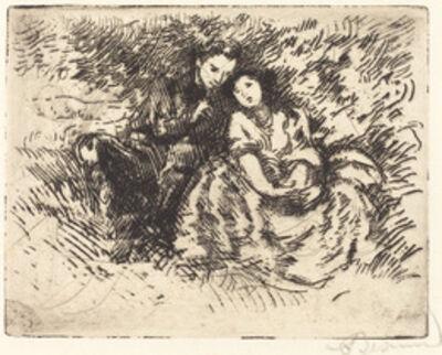 Albert Besnard, 'Amorous Conversation (Conversation amoreuse)', 1913