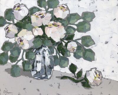 Christie Younger, 'Roses in Blue Vase I', 2019