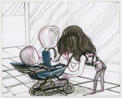 Emma Talbot, 'Diana in the Dark Bending over the Pram', 2011