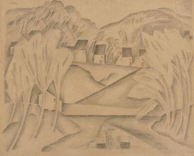 Moise Kisling, 'Le Village Cilette, circa', circa 1918