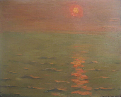 Albert Henry Robinson, 'Sunset at Sea', 1919