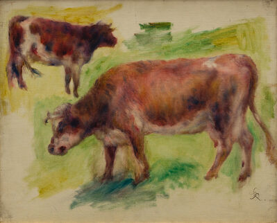 Pierre-Auguste Renoir, 'Etude de boeufs', 1841-1919