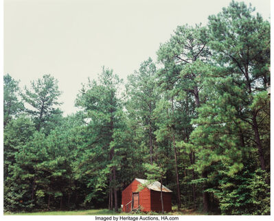 William Christenberry, 'Red Building in Forest, Hale County, Alabama', 1991