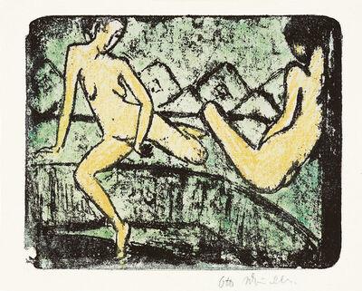 Otto Müller, 'Zwei auf dem Sofa sitzende Mädchen', 1912-1914