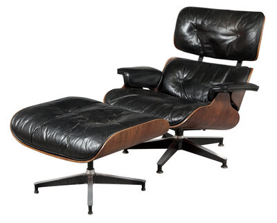 Charles Eames, 'Charles and Ray Eames Rosewood 670 Lounge Chair and 671 Ottoman, For Herman Miller', Designed circa 1956