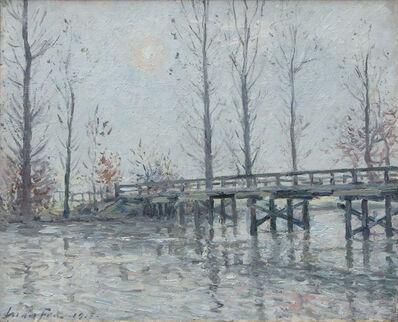 Maxime Maufra, 'La Passerelle par temps de brouillard (Loir-et-Cher)', 1917