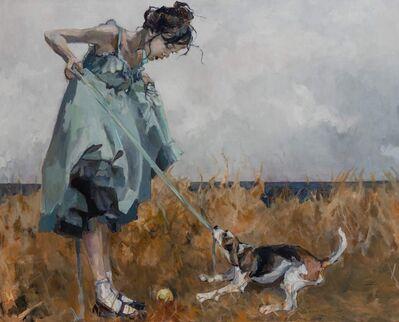 Ingebjorg Stoyva, 'Hund med pike', 2019