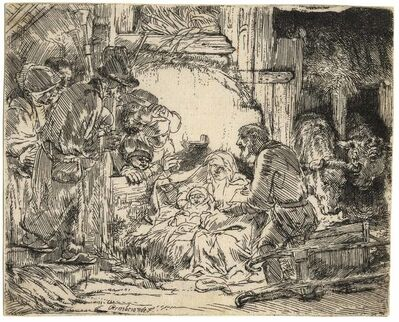 Rembrandt van Rijn, 'The Adoration of the Shepherds with the Lamp', 1654