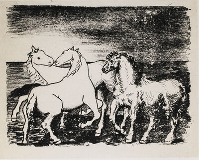 Pablo Picasso, 'Trois Chevaux Au Bord De La Mer (Three Horses At The Edge Of The Sea), 1949 Limited edition Lithograph by Pablo Picasso', 1949