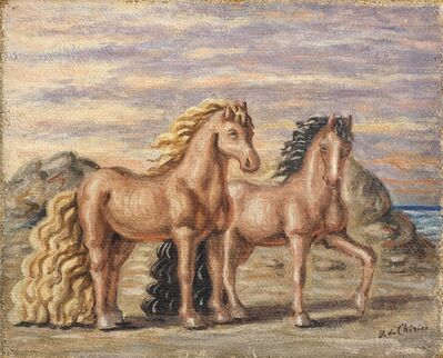 Giorgio de Chirico, 'Cavalli in riva al mare', 1932-33