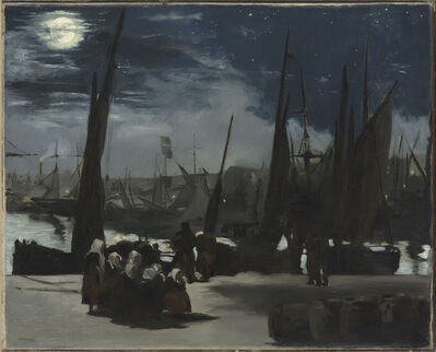 Édouard Manet, 'Moonlight at the Port of Boulogne', 1868