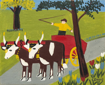 Maud Lewis, 'Oxcart in Spring', 1962