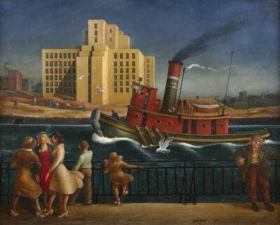 Clyde Singer, 'East River', 1938