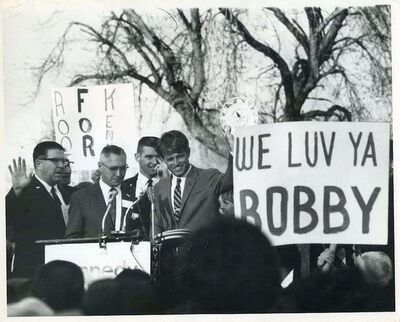 Henry Grossman, 'Robert Kennedy during his election campaign', 1968